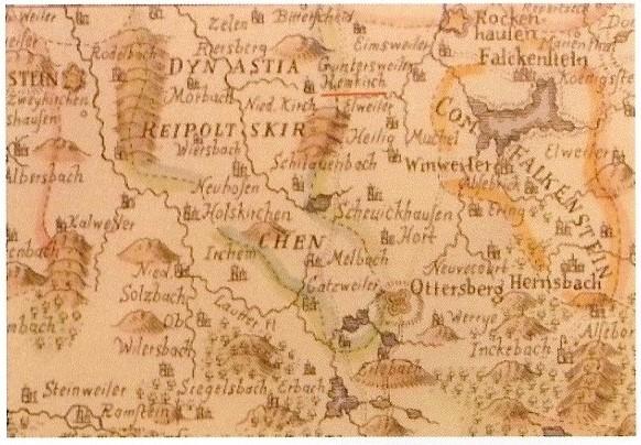 Heimkirchen alte Karte